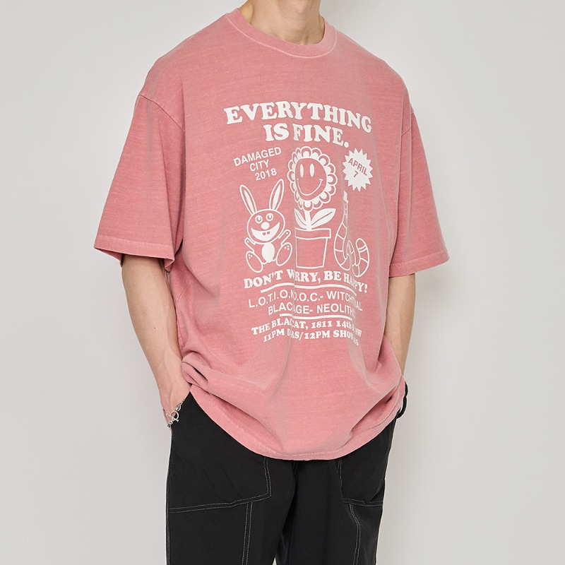 EVERYTHING FINE 워싱1/2 T
